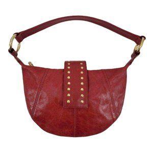 Junior Drake Fuschia Leather Mini Hobo Bag